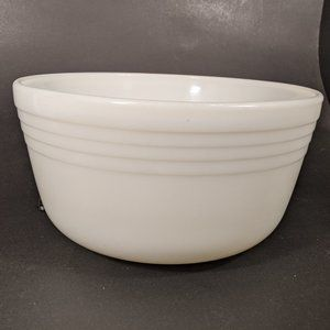 Pyrex White Milk Glass Banded Mixer Bowl